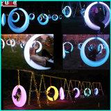 현대 Illuminating LED 옥외 안뜰 공원은 LEDs를 가진 대형 그네를 진동한다