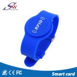 Resistente al agua 13.56MHz 1K S50 pulsera de silicona RFID