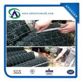 Clôture de liaison en chaîne revêtue de PVC 75X75mm, maillage de fil de diamant