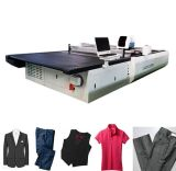 Máquina cortadora automática de tecidos cortados em tecido de couro com controle de computador