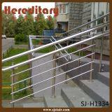 Balaustre de cristal del acero inoxidable de la plata del satén de interior (SJ-S091)