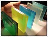 Espaço livre/vidro laminado colorido de 6.38-42.30mm