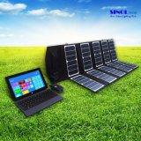 65W 2-Port Gleichstromusb-Solaraufladeeinheit mit High-Efficiency beweglicher faltbarer Sonnenkollektor Powermaxiq Technologie für iPhone, iPad, iPod (FSC-65A)