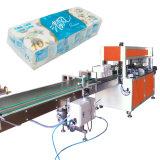 Auto Cabeza de la agrupación de rollo de papel higiénico sola Máquina de embalaje