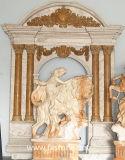 Davanzale di marmo della finestra, porta del travertino del davanzale della finestra dell'arenaria
