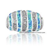 최신 판매 고급장교는 단백석 보석 반지를 만들었다