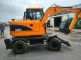excavador de la rueda 8ton con cavador del precio de la buena calidad de la grada III del motor de Yanmar el buen para la venta