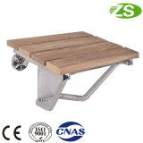 Cadeira de chuveiro de madeira do assento Foldable confortável do chuveiro