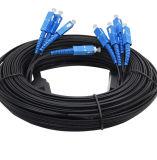 4 Sc-Sc de la cuerda de corrección del cable de la base FTTH