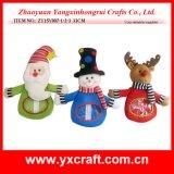 クリスマスの装飾(ZY14Y50-1-2 27CM)のクリスマスのスノーマンキャンデー袋の祝祭のクリスマス