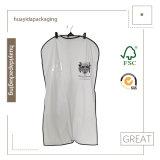 Sacchetti antipolvere non tessuti dell'indumento dei pp per i vestiti dell'imballaggio