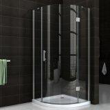 cabine ronde en verre de douche de Bath de charnière de bâti de chrome de 8mm