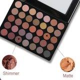 35 colores de maquillaje profesional sombreador de ojos paleta sombra de ojos mate Shimmer Es0307