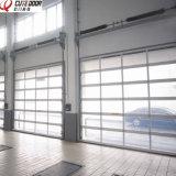 Дверь Tempered стекла самомоднейшей конструкции алюминиевая ясная секционная для гаража