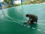 خارجيّة [بفك/] أرضية بلاستيكيّة لأنّ تنس ريشة, كرة سلّة, يتعقّب ملعب