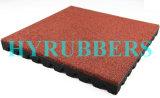 Mattonelle di pavimentazione di gomma riciclate anti franamento della polvere di gomma