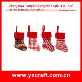 Décoration artificielle d'arbre de Noël de petit modèle de chaussette de cadeau de Noël