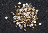 Bergkristal van de Moeilijke situatie van het Glas van het Werk van de Spijker van het Bergkristal Hotfix van de Kunst van de spijker niet het vlak Achter niet Hete