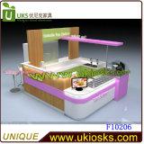 De elegante & Glanzende Kiosk van het Voedsel van de Wandelgalerij paste de Bevroren Kiosk van de Yoghurt van het Ontwerp van de Kiosk van de Yoghurt Ce Goedgekeurde voor Verkoop met leiden aan