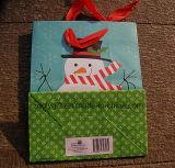 Saco de compras de papel, o logotipo personalizado impresso saco de papel de Natal