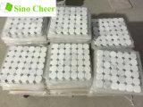 Chinesisches orientalisches weißes Marmormosaik mit grauem PUNKT für Wand-Fliesen