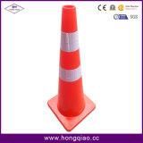 конус дороги движения PVC померанца 900mm высокий гибкий отражательный