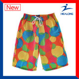 Cortocircuitos de encargo de la playa de la natación de la sublimación del verano del Mens de Healong (bragas)