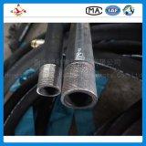 El alambre de acero de alta presión de En856 4sh torció en espiral manguito de goma hidráulico