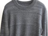 100%Cashmere人のための長い袖の円形の首の編むセーター