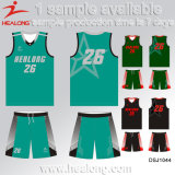 Healongの完全な昇華反しわのバスケットボールのジャージーのバスケットボールのユニフォーム