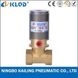 Q22HD-25 2/2 Klep van het Messing van het Type van Zuiger van de Manier de Materiële Pneumatische Flow Control