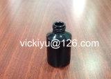 60ml botellas de cristal negro de la loción, botellas de aceite esencial de cristal, serie negra de botellas de vidrio de la loción