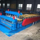 Metalldach-Doppelt-Plattform-Rolle, die Maschine bildet