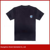 T-shirt 100% de blanc de coton d'hommes de coton de coutume avec votre modèle d'impression (R187)