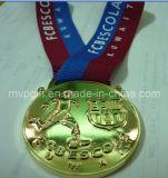 3D mette in mostra la medaglia per l'evento di gioco del calcio del FCB
