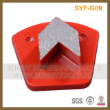 Type de trapézoïdal de Diamond meulage de la surface de plancher de béton