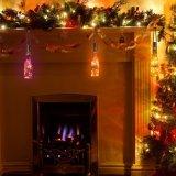 50 Solar LED blanco cálido de las luces de la cadena de hadas botella grande de jardín patio de la plataforma parte boda decorativas de Navidad