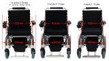 Sedia a rotelle elettrica piegante, sedia a rotelle pieghevole di potere