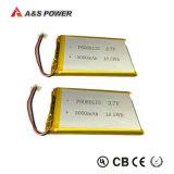 401235 bateria pequena recarregável de 3.7V 130mAh Lipo para o fone de ouvido de Bluetooth