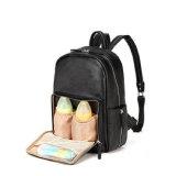 Мода провод фиолетового цвета кожи практические изменения блока пеленок Bag Baby Diaper рюкзак