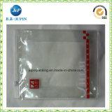 Bolso transparente promocional de la cremallera del fichero del PVC del plástico (jp-plastic068)
