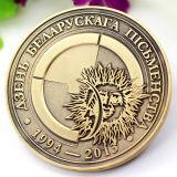 Barato de alta calidad Fundición de aleación de zinc metal moneda de oro artesanal de souvenirs personalizados