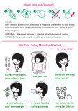 Almofadas sanitárias Menstrual fêmeas Ultra-Thin longas super para o uso de noite