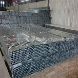 Tubo de acero Pre-Galvanizado cuadrado para los muebles de la decoración o del acero