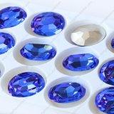 Pierre en cristal de forme de qualité de dos ovale de point (3002)