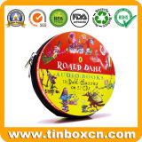 CD/DVD Zinn-Kasten-Geschenk-Ablagekasten-Metallreißverschluss-Zinn