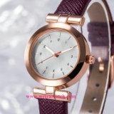 Suministro de la fábrica Dama Wist Ver Movimiento de cuarzo damas relojes analógicos (WY-17018)
