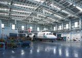 Estructura de acero de almacén de mantenimiento de avión en el SGS