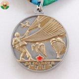 カスタム金属の金はリボンが付いているメダルを遊ばす