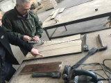식각된 손으로 만들어진 미완성 오크 단단한 나무 마루